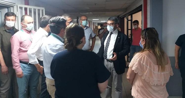 Sağlık Müdürümüz Uzm. Dr. Halim Ömer Kaşıkcı, Yüksek İhtisas Eğitim ve Araştırma Hastanesi'ni Ziyaret Etti