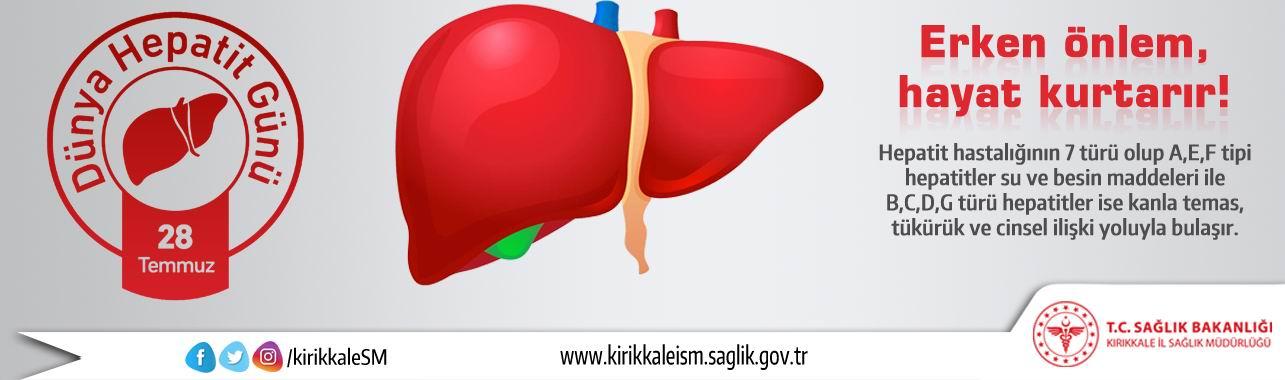 28 Temmuz Dünya Hepatit Günü Bilgilenin, Aşılanın, Korunun!
