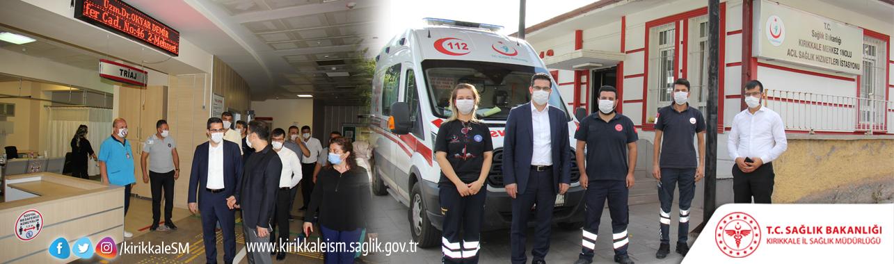 İl Sağlık Müdürümüzden Personelimize Bayram Ziyareti