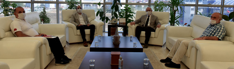 OMÜ Rektörlüğüne Atanan Prof.Dr.Yavuz Ünal'a Hayırlı Olsun Ziyareti