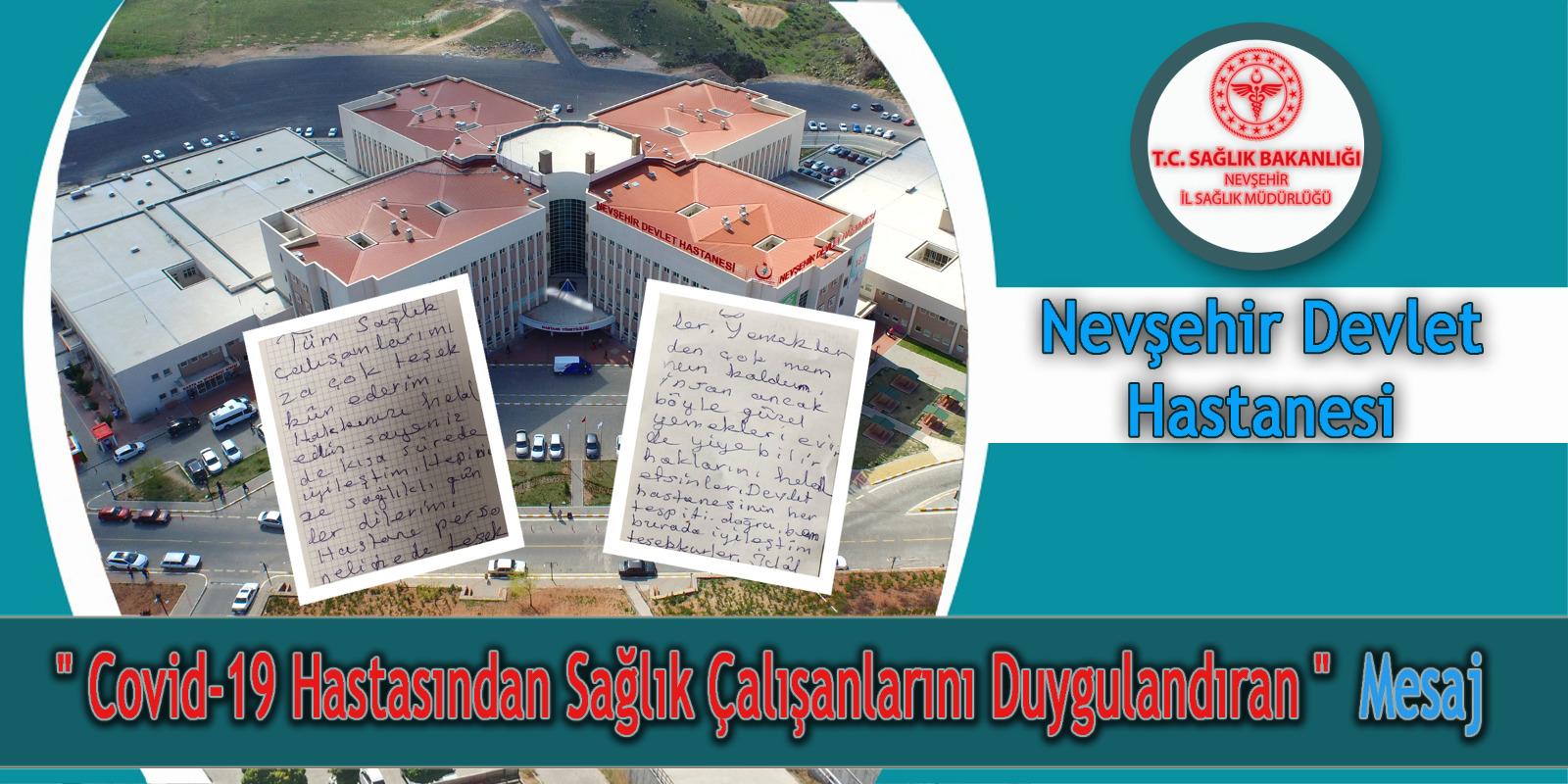 Covid-19 Hastasından Sağlık Çalışanlarını Duygulandıran Mesaj