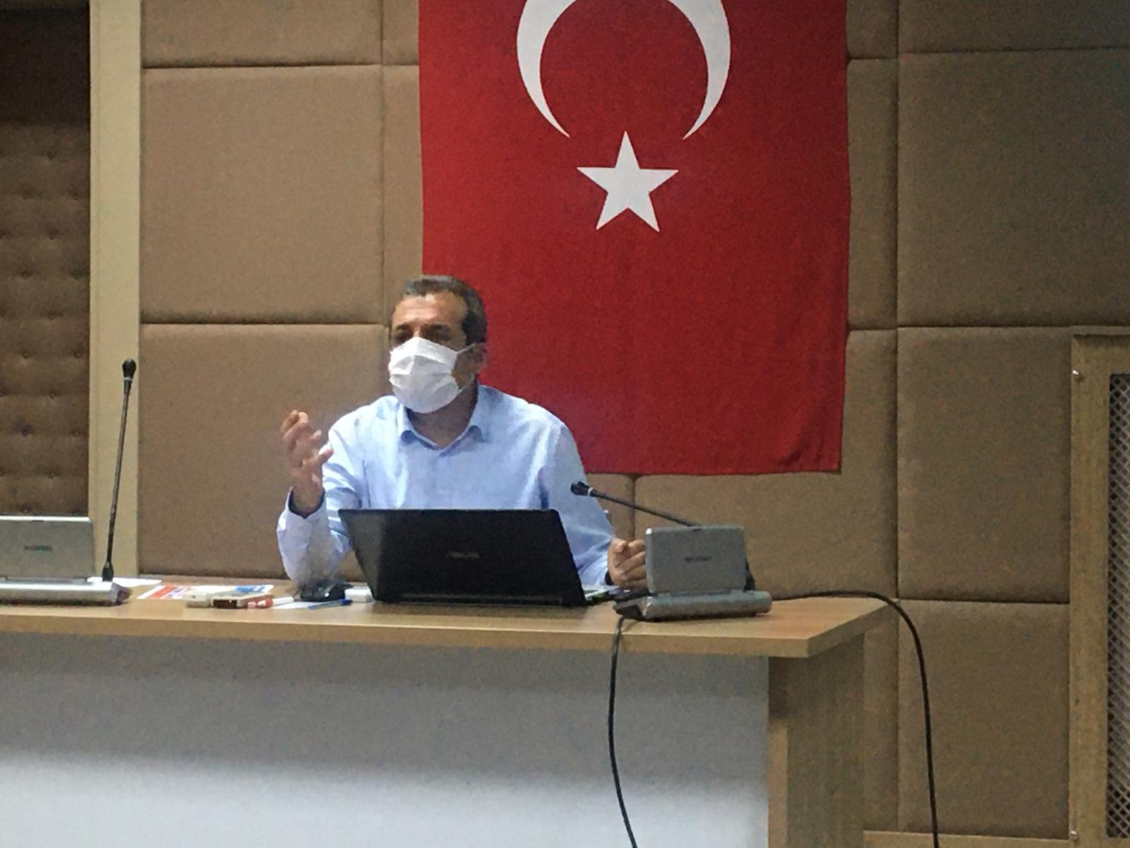 İl Sağlık Müdürümüz Prof. Dr. Cahit Polat Başkanlığında Pandemi Süreci Konulu Toplantı Düzenlendi