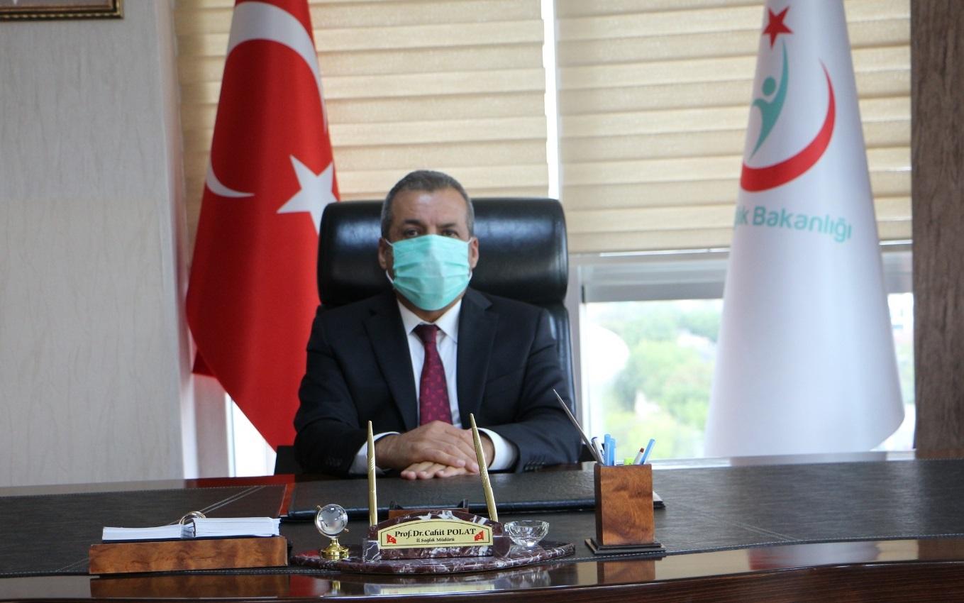 İl Sağlık Müdürü Prof. Dr. Cahit Polat Vatandaşlara Çağrıda Bulunarak  Kurallara Uyulması Halinde Sürecin Çok Rahat Aşılacağını Söyledi