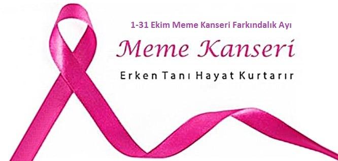 Meme Kanseri Farkındalık Ayı (1-31 Ekim)
