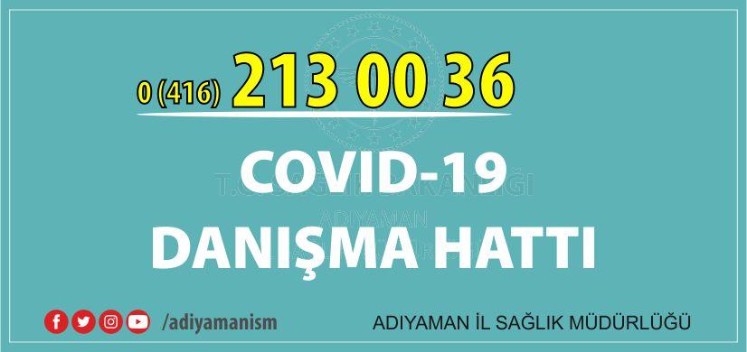 COVID-19 Danışma Hattı Kuruldu