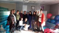 Katılımcılar, 2,5 gün teorik eğitimin sonunda yarım gün süren pratik eğitime hastanelerde katıldılar.