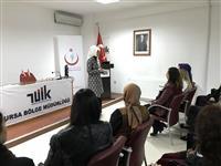 TÜİK kadın personeline Meme Kanseri anlatılıyor.