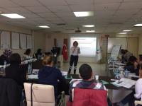 ÇİLYAD eğitiminde teorik konu anlatımı katılımcılarla paylaşılmakta.