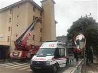 Ambulans ve İtfaiye aracının yangın anında ilk müdahalesi.