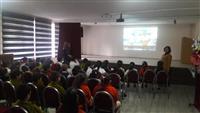Okulda öğrencilere Diyabet ile ilgili video izletildi.