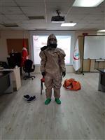 KBRN olaylarında sağlık personelinin kullanacağı C Tipi kıyafet tanıtımı ve giydirilmesi.
