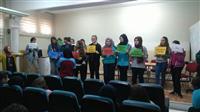 """Osmangazi İMKB Mesleki ve Teknik Anadolu Lisesi öğrencileri ile """"Sağlıklı Kahvaltı İçin Doğru Tercihler"""" konulu oyun oynanıyor"""