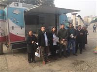 Ebe Zeynep DEVECİLER ve Sağlık Memuru Nedim KILIÇ tarafından halka yönelik eğitim etkinliği yapıl