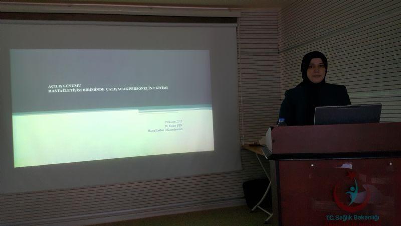 Hasta İletişim Birimlerinde Çalışan Personele Eğitim Verildi (3.Grup)