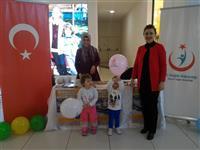 Bursa Kent Meydanı Alışveriş Merkezi'nde Müdürlüğümüz Çocuk, Ergen, Kadın ve Üreme Sağlığı Birimi tarafından stant açıldı