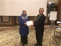 Müdürlüğümüz Halk Sağlığı Hizmetleri Başkan Yardımcısı Fikret MUTİ tarafından katılımcılara sertifikaları takdim edildi.