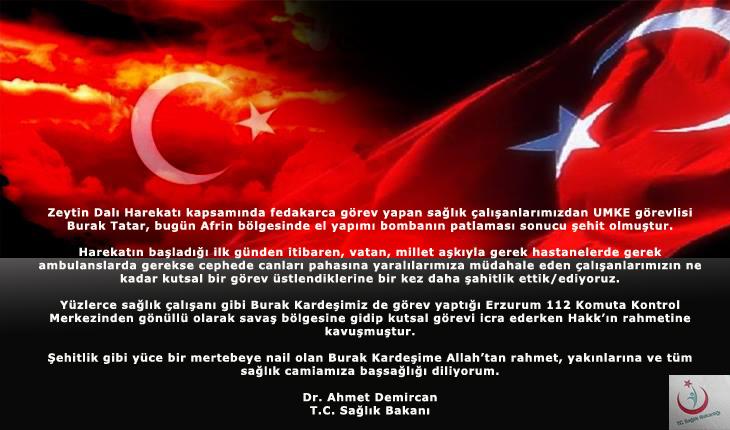 Sağlık Bakanı Dr. Ahmet DEMİRCAN'IN Basın Açıklaması
