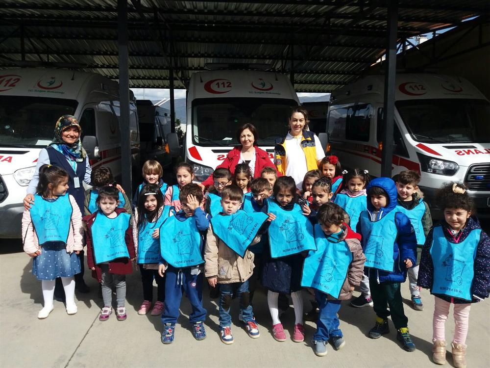 TDH Anaokulu Miniklerin Tokat 112 Ziyareti