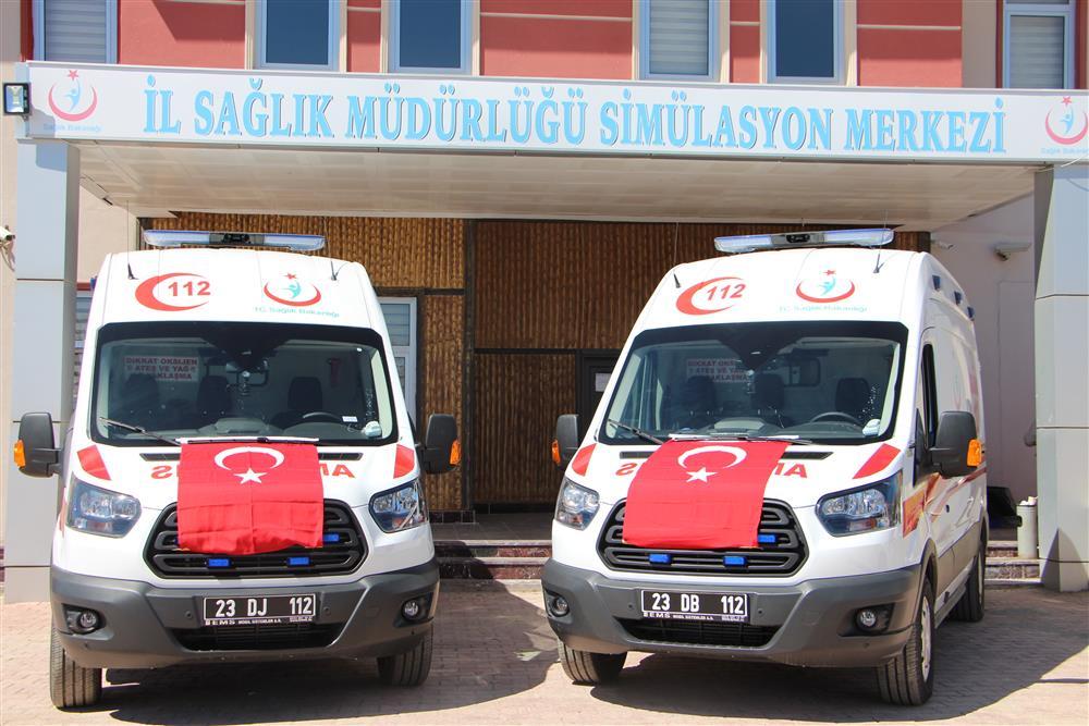 Yeni Ambulanslarımız Elazığ'ın Hizmetine Sunuldu
