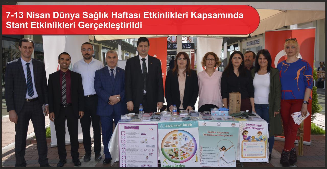 7-13 Nisan Dünya Sağlık Haftası Etkinlikleri Kapsamında Stant Etkinlikleri Gerçekleştirildi